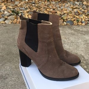14th & Union, Heeled ankle booties, suede
